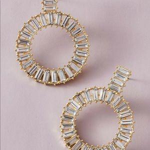 NWT Anthropologie hoop crystal earrings
